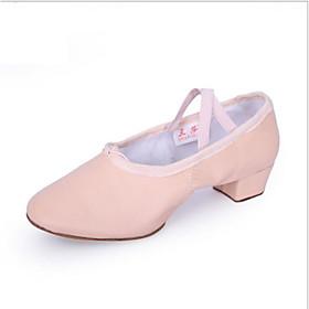 Women's Dance Shoes Ballet Shoes / Practice Trainning Dance Shoes Heel Thick Heel Black / Red / Pink / Performance
