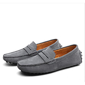 Men's Loafers  Slip-Ons Casual Daily PU Non-slipping Wine / Light Brown / Black Fall / Winter