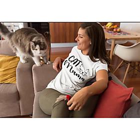 Women's Mom T-shirt Graphic Prints Letter Print Round Neck Tops Slim 100% Cotton Basic Basic Top White Black Dark Gray