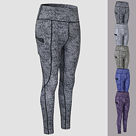 YUERLIAN Women's High Waist Running Tights Leggings Compression Pants Athletic Base Layer Bottoms with Phone Pocket Spandex Winter Fitness Gym Workout Performa