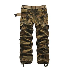 Men's Basic Daily Tactical Cargo Pants Solid Colored Classic Outdoor Brown Rainbow 30 31 32
