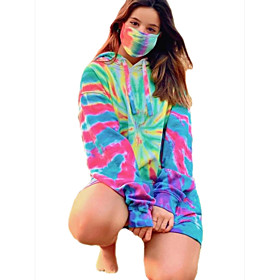 Women's Daily Pullover Hoodie Sweatshirt Tie Dye Basic Hoodies Sweatshirts  Loose Oversized Yellow Green
