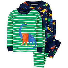 Toddler boy  2 pc pajama cotton set dinosaur blue Listing Date:08/13/2020