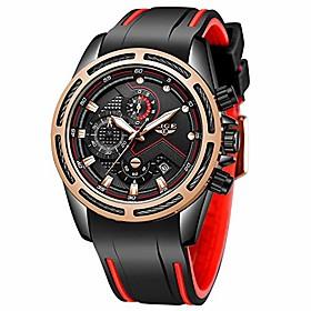 men's watch fashion sport black waterproof analog quartz watch men classic luxury business dress large dial automatic chronograph litbwat