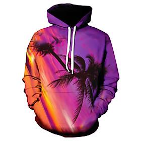 Men's Hoodie Graphic Hooded Casual Hoodies Sweatshirts  Fuchsia