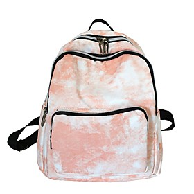 Large Capacity Commuter Backpack Women's Nylon Zipper Solid Color Daily Blue / Blushing Pink / Green / Gray / Fall  Winter