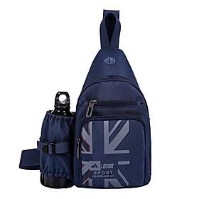 Men's Bags Polyester / Canvas Sling Shoulder Bag Zipper for Daily / Holiday Black / Blue
