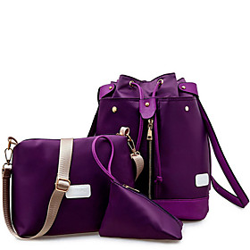 Women's Bags PU Leather Bag Set 3 Pcs Purse Set Zipper for Daily / Holiday Wine / Black / Purple / Dark Blue / Bag Sets