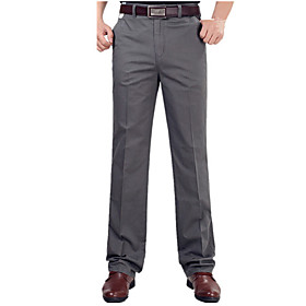 Men's Basic Daily Chinos Pants Solid Colored Outdoor Camel Khaki Dark Gray 30 31 32