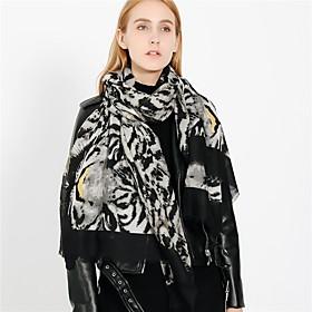 Women's Active Rectangle Scarf - Leopard / Print Washable