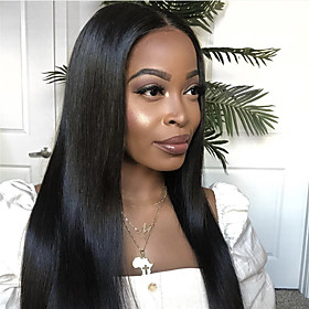 Synthetic Wig Straight Middle Part Wig Very Long Black Synthetic Hair 26 inch Women's Classic Exquisite Comfy Black