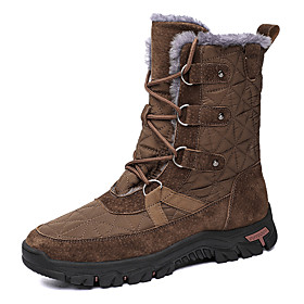 Men's Boots Classic / Casual Daily Outdoor Walking Shoes Pigskin Warm Non-slipping Wear Proof Mid-Calf Boots Dark Brown / Black / Blue Winter