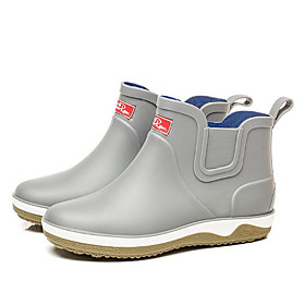 Men's Boots Work Boots Rain Boots Daily Office  Career PVC Warm Waterproof Non-slipping Black / Blue / Gray Spring / Fall