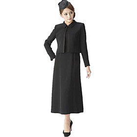 Women's A-Line Dress Knee Length Dress - Long Sleeve Solid Color Patchwork Spring Shirt Collar Work Casual 2020 Black M L XL XXL