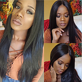Synthetic Wig Straight Middle Part Wig Long Very Long Light golden Light Brown Dark Brown Wine Red Silver grey Synthetic Hair 65 inch Women's Fashionable Desig