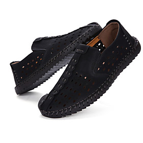 Men's Loafers  Slip-Ons Casual Daily PU Wear Proof Black / Yellow / Khaki Spring / Fall