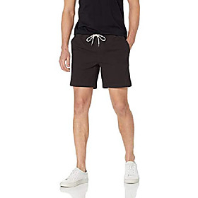 butamp; #39;s slim-fit 7 inseam pull-on comfort stretch canvas short, black, x-small