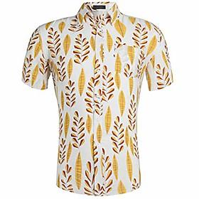 men's casual button down hawaiian shirt aloha shirt