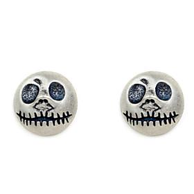 Men's Women's Stud Earrings Hollow Out Skull Cool S925 Sterling Silver Earrings Jewelry Silver For Halloween Carnival Bar 1pc