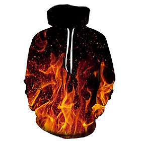 3d fire flame hoodie red smoke graphic printed pullover hoodies fashion street style hip hop hooded sweatshirt for men women xxl