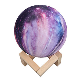3D Print Colorful Change Star Moon Light 16 Colors Touch Sensor Moon Lamp USB LED Painted Night Galaxy Lamp Home Bedroom Decor