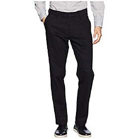 athletic fit signature khaki lux cotton stretch pants - creaseless dark pebble 32