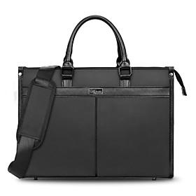 Men's Bags Nylon Briefcase / Top Handle Bag Zipper for Office  Career Black