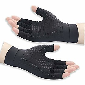 copper arthritis gloves for women and men - high copper content compression gloves for pain relief of swelling,hand pain, tendinitis and arthritis(black, small