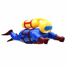 bath toy, clockwork diver superman toys bath toys clockwork water toys swimming toys boys and girls swimmers scuba diver toy wind up clockwork sea baby bath to Listing Date:09/19/2020