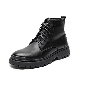 Men's Boots Casual / Vintage Daily Leather Booties / Ankle Boots Black Fall / Winter