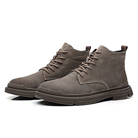 Men's Boots Casual / British Daily Leather Non-slipping Wear Proof Booties / Ankle Boots Brown Fall