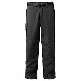 men's kiwi convertible travel pants lightweight upf 50 trousers with sun protection fabric - black pepper, 32 x 33