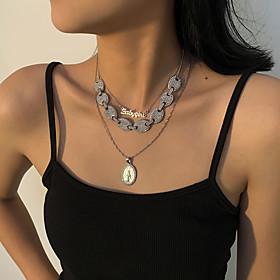 Men's Women's Choker Necklace Pendant Necklace Retro Letter Vintage European Chrome Silver 21-50 cm Necklace Jewelry 1pc For Christmas Street Gift Birthday Par