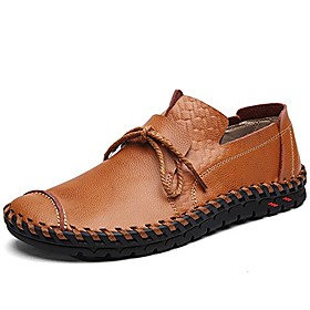 men's loafers shoes slip on leather shoes comfortable casual driving shoes flats shoes