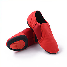 Women's Dance Shoes Ballet Shoes / Latin Shoes / Practice Trainning Dance Shoes Flat Flat Heel Black / Red / Performance