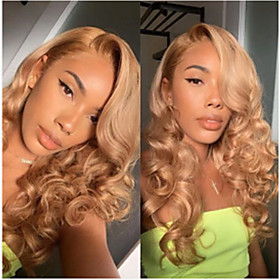 Synthetic Wig Curly Deep Wave Asymmetrical Wig Long Blonde Synthetic Hair Women's Classic Cool Blonde