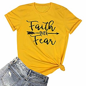 women graphic summer t shirts cute tees yellow small Listing Date:09/19/2020