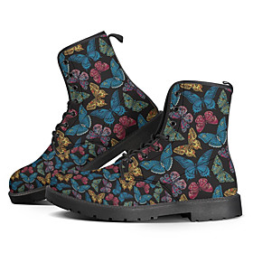 Men's Boots Daily PU Booties / Ankle Boots Black / Red / Blue / Rainbow Fall