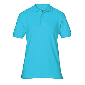 85800 adult premium cotton double pique polo shirt - lagoon - small