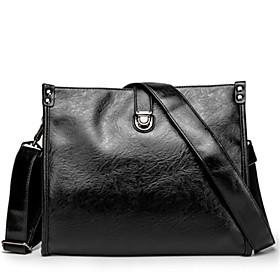Men's Bags PU Leather Crossbody Bag Glitter for Outdoor / Office  Career Black