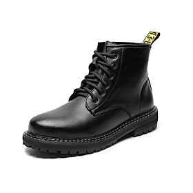 Men's Boots Daily Leather Booties / Ankle Boots Black Fall