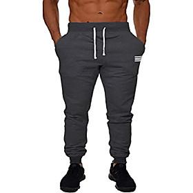 men's joggers workout running track gym sweat pants grey big loose sweatpants