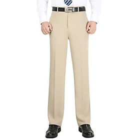 Men's Ceremony Cotton Chinos Pants Solid Color 6012#black 9999#beige 36 29 30 / Summer / Fall / Winter