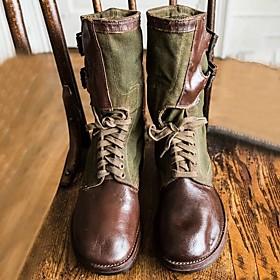 Men's Boots Demonia Boots Work Boots Daily PU Non-slipping Dark Brown / Army Green / Dark Green Fall