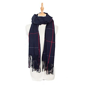 Women's Tassel Rectangle Scarf - Striped Washable