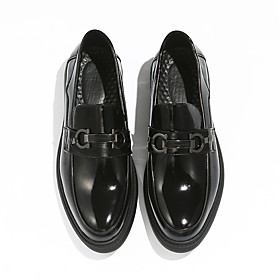 Men's Loafers  Slip-Ons Casual Daily PU Wear Proof Black Spring / Fall