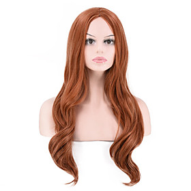 Synthetic Wig Curly kinky Straight Middle Part Wig Long Light Brown Synthetic Hair Women's Party Classic Comfortable Light Brown