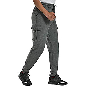 men's jogger cargo sweatpants running workout tapered pants charcoal x-large