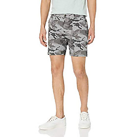 butamp; #39;s 7 inseam flat-front stretch chino short, grey camo 31