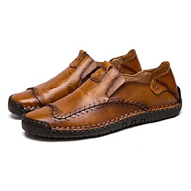 men's leather moccasins slip-on penny loafers casual driving boat comfortable shoes(7 m us,24.5 cm heel to toe